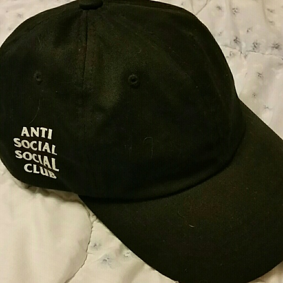f47df6a96f1 Anti Social Social Club Accessories - Anti Social Social Club Weird Black  Cap
